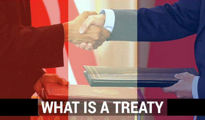 What is a Treaty and the types of treaty?